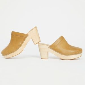 New Free People Yellow Highland Park Clog